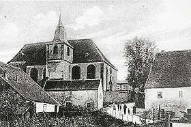 L'église de Guiderkirch vers 1920.