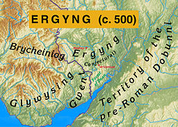 Map of Ergyng (c. 500)