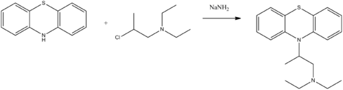 Ethopropazine synthesis.png