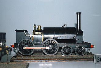 Carmarthen and Cardigan Railway - Model of Etna in Swansea Maritime Museum