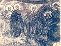 Eucharistie, fresque de l'église de la Dormition de Volotovo XIV e s.JPG