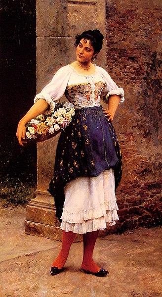 File:Eugene de Blaas Venetian flower seller.jpg