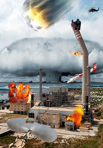 Photomontage - Image: Example of photomontage based on Delimara Power Station 2009