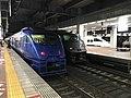 Express trains at Hakata Station 20201009-1.jpg