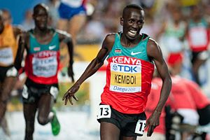2011 World Championships in Athletics - Kenya's Ezekiel Kemboi defended his steeplechase world title