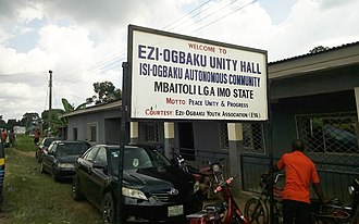Obaku, Imo - community hall ogbaku