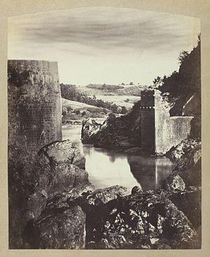 Félix Thiollier - Image: Félix Thiollier, Landscape with Ruin, c. 1870