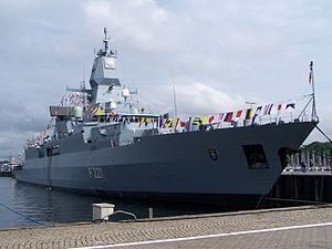 Sachsen-class frigate - Hessen at Kiel Week in 2007