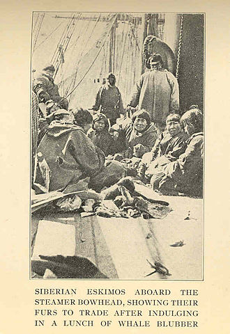 Eskimo - Siberian Yupik aboard the steamer Bowhead