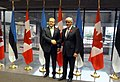 FM Urmas Paet meeting Canadian Minister of Foreign Affairs Lawrence Cannon (5148013606).jpg