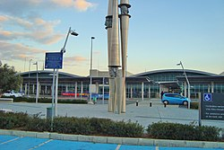 Facade outside Larnaca International Airport Republic of CYPRUS 5.jpg