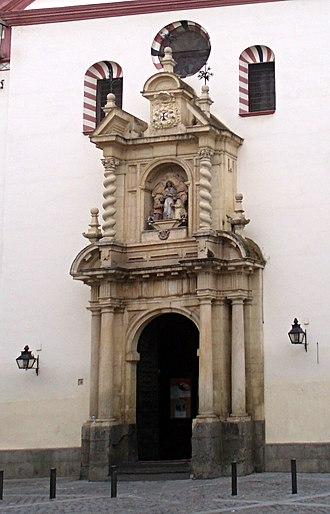 San Juan y Todos los Santos - Image: Fachada principal de la iglesia de la Trinidad de Córdoba Derivate Work 01 dpc