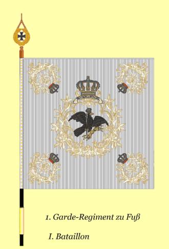 1st Foot Guards (German Empire) - Colors of the 1st battalion