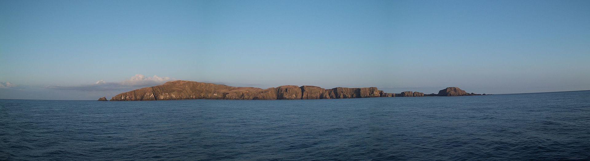 Ostrov Fair ze západu.