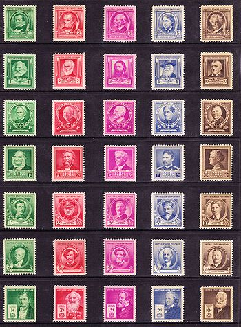 US Stamps American President series 1940