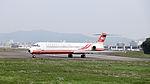 Far Eastern Air Transport MD-82 B-28035 Taxiing at Taipei Songshan Airport 20150221a.jpg