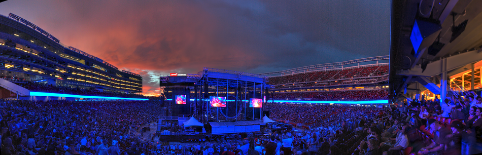 Behind the stage at Fare Thee Well: Celebrating 50 Years of the Grateful Dead at Levi's Stadium, Santa Clara, California on June 27, 2015