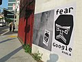 Fear Google Scarlett Johansson Street Art by XVALA at Highland and Franklin, LA, CA.jpg