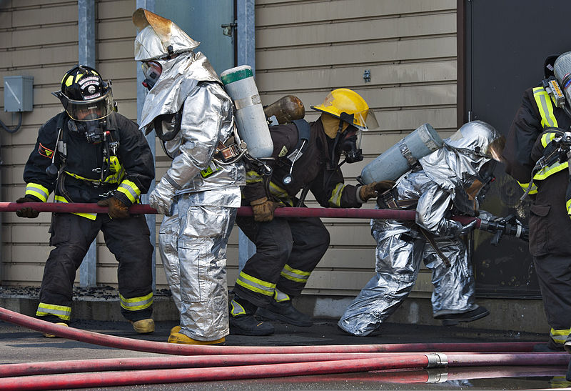 File:Federal Fire Department Firefighting Recruit Training Academy Recruits prepare to enter a building during training at the Mamala Bay training area on Joint Base Pearl Harbor-Hickam in Pearl Harbor, Hawaii 130320-N-WF272-019.jpg