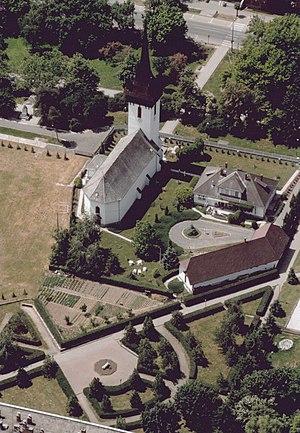 Fehérgyarmat - Aerial photo: Fehérgyarmat Church