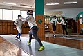 Fencing in Greece. Athenaikos Fencing Club. Fencing with fencers from other clubs.jpg