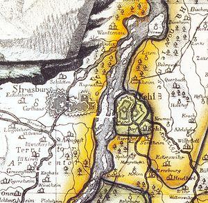 Siege of Kehl (1733) - Image: Festung Kehl 1788