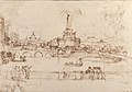 Figures Watching a Display of Fireworks at Castel Sant'Angelo, Rome (recto); A Distant View of the Fireworks Seen from a Villa Garden (verso) MET 2000.90a.jpg