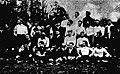 Finale du championnat de France de rugby en mars 1904, joueurs du Stade bordelais en blanc, et du Stade français en foncé.jpg