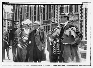 John Huston Finley - Governor Glynn and his wife, with Finley at City College of New York in 1913