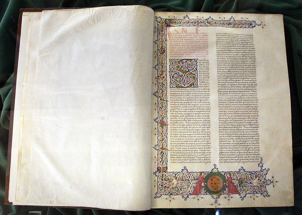 Firenze, alberto magno, de animalibus, 1450-1500 ca. cod fiesolano 67, 01