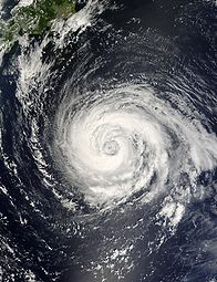 Typhoon Fitow on September 4, 2007