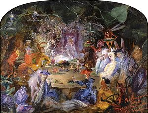 """Fairies' Banquet"" (1859) by John An..."