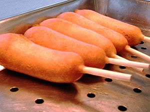 Corn production in the United States - Corn dogs at the Olmsted County Fair, Minnesota (2006)