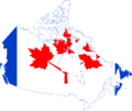 Flag map of Canada (Pearson Pennant).png
