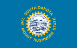 Flag of South Dakota (November 9, 1992)