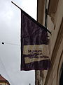 Flag on the building of the Museum of Broken Relationships.jpg