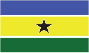 Rally for Democracy and Progress (Namibia) - Image: Flagge RDP Namibia