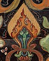Flaming Jewels detail from, Attributes of Kubera 'Lord of the Horses' in a Wellcome L0030391 (cropped).jpg