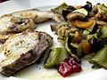 Flickr - cyclonebill - Grillet rundfisk med grøntsager.jpg