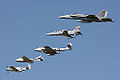Flight formation of 5 Royal Australian Air Force types.jpg
