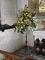 Floral display within St Mary, Stopham - geograph.org.uk - 1776901.jpg