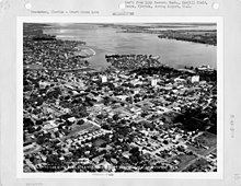 An aerial photograph taken of Downtown Bradenton in August 1941 by the US Army Air Forces.