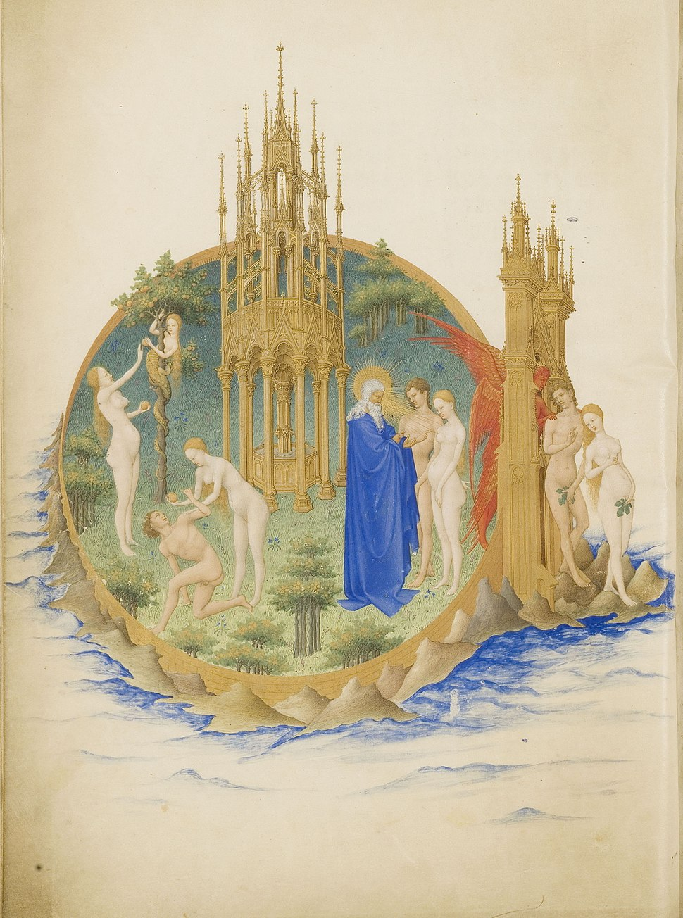 Folio 25v - The Garden of Eden