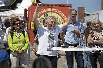 Uffe Elbæk - Uffe Elbaek in a public meeting in 2012