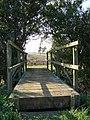 Footbridge on Public Footpath - geograph.org.uk - 982048.jpg