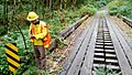 Forest engineers inspecting bridges - Olympic National Forest - September 2017 02.jpg