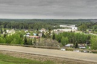 Fort Assiniboine Hamlet in Alberta, Canada