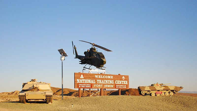 File:Fort Irwin National Training Center - Welcome sign - 1.jpg