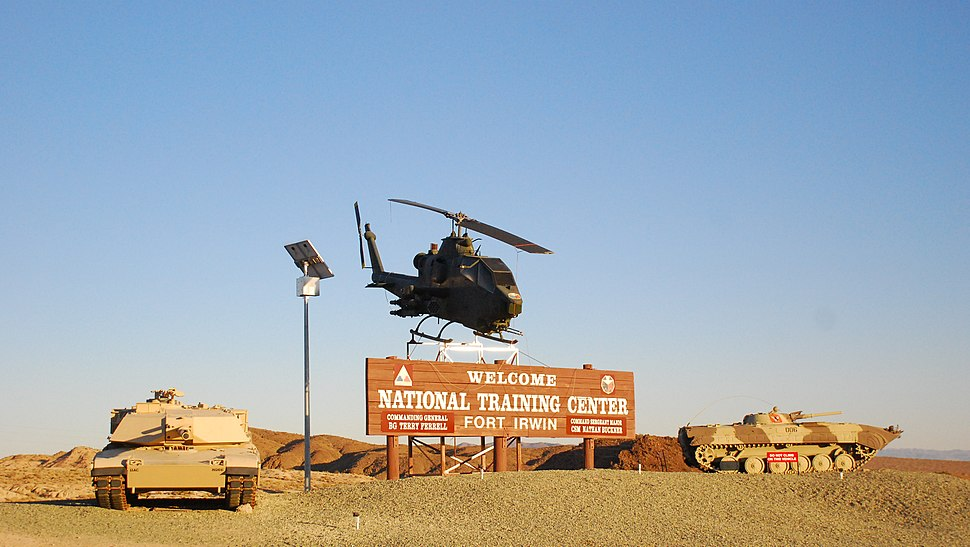 Fort Irwin National Training Center - Welcome sign - 1
