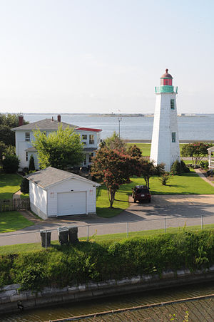 Old Point Comfort Light - Old Point Comfort Light (keeper's house out of frame to right)
